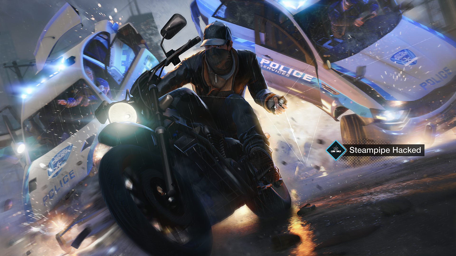 Watch Dogs bike chase